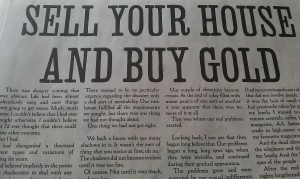 Sell Your House and Buy Gold