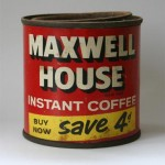 Old Maxwell House Instant Coffee Tin