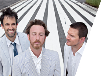 Guster playing with the Colorado Symphony