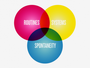 Routines / Systems / Spontaneity