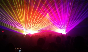 Ghostland Observatory laser show @ Mr. Smalls 8/12