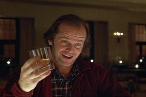 The Shining, Jack Nicholson happy