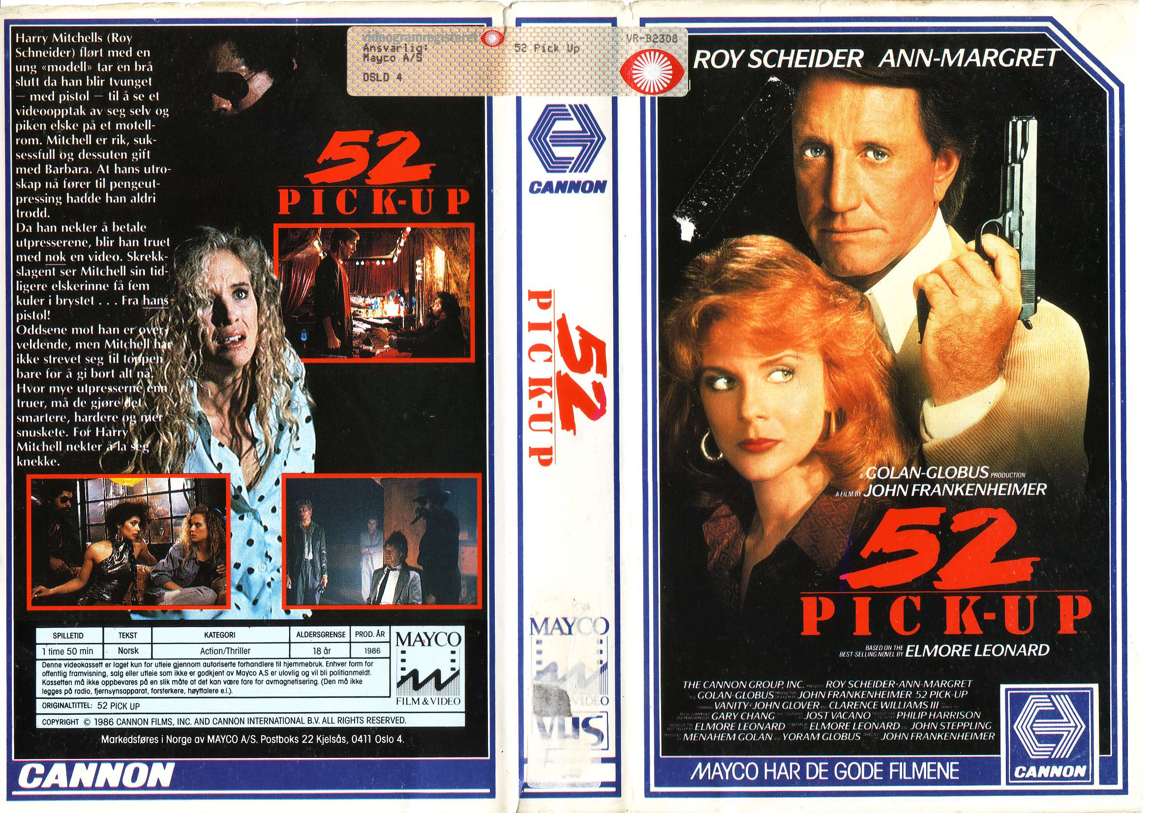 52 Pick-Up VHS box