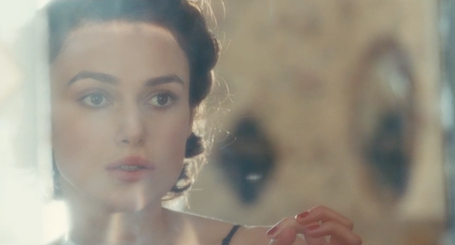 Keira Knightly filmed through stockings