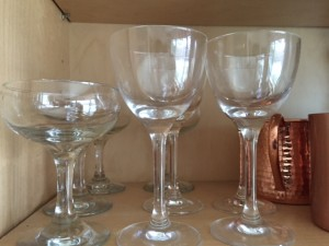 Thin Man Martini glasses