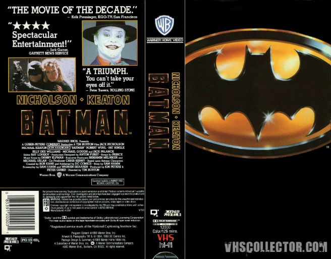 Batman VHS tape