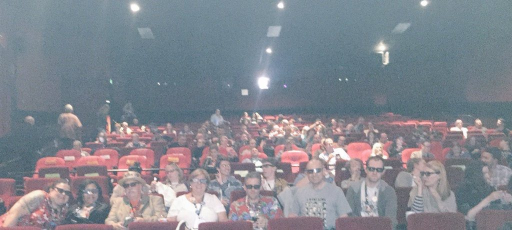 Our rowdy row before the Gog (1954) in 3D midnight presentation on Saturday night.