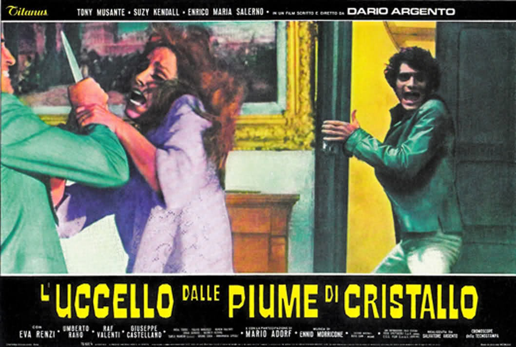 bird with the crystal plumage Italian poster