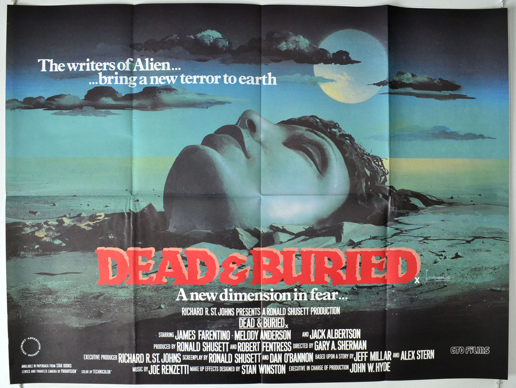 Dead & Buried UK Quad poster