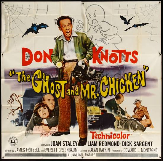 the ghost and mr. chicken 1966 poster