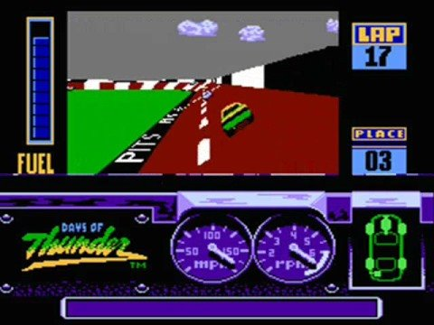 days of thunder NES game screen