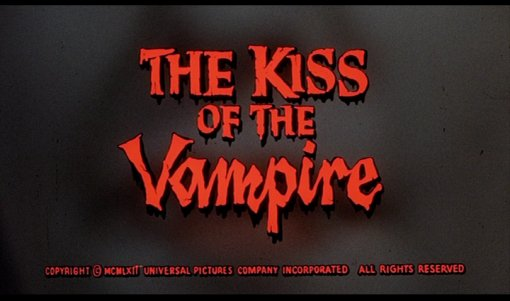 kiss of the vampire title