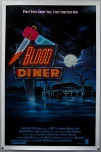 blood diner 1987 poster