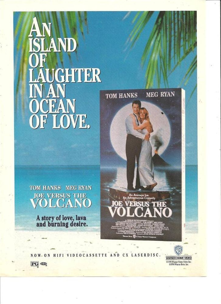 joe versus the volcano on VHS