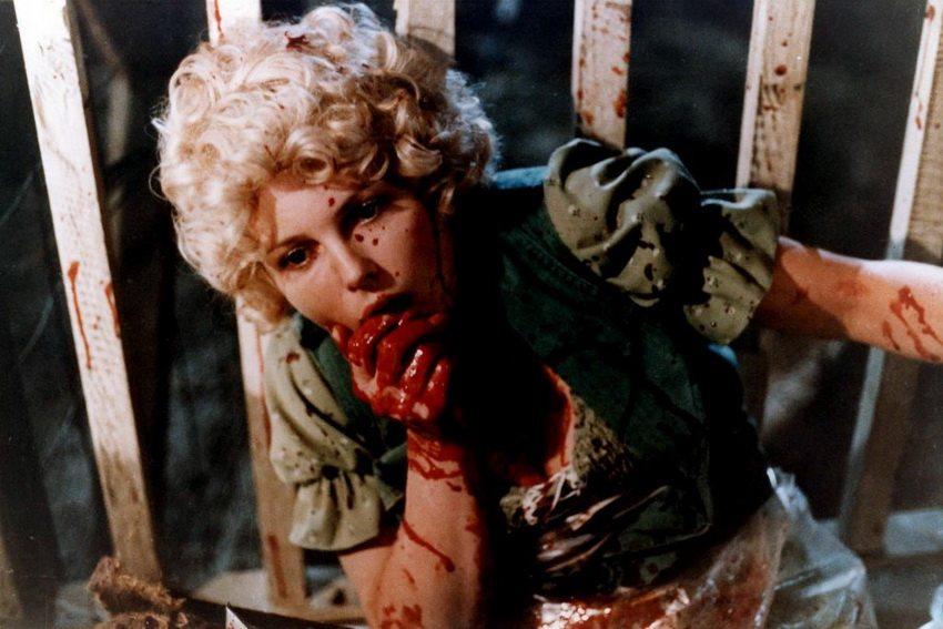 a bloody Roberta Collins in Tobe Hooper's Eaten Alive (1976).