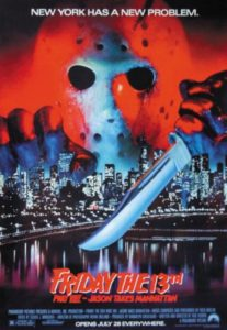 Friday the 13th Part VIII Jason Takes Manhattan poster