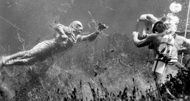 the-creature-swims-in-the-lagoon
