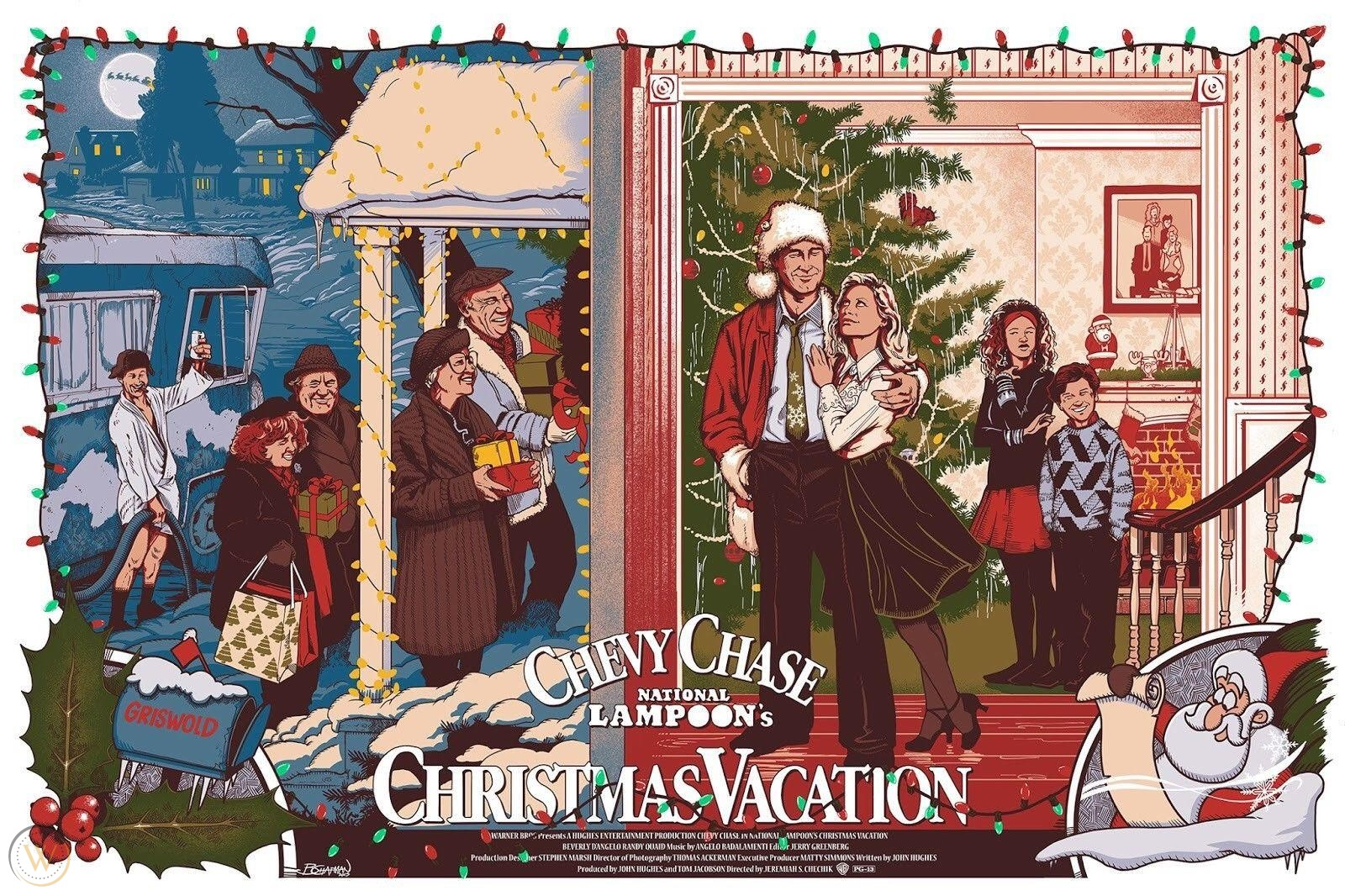 christmas vacation poster art
