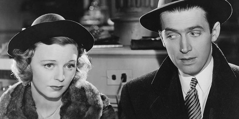 margaret sullavan and jimmy stewart in the shop around the corner