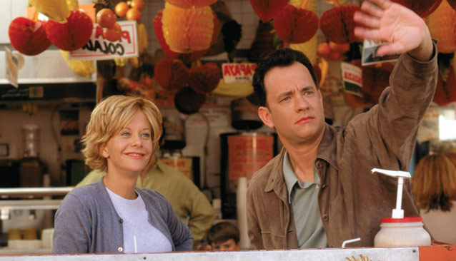 meg ryan and tom hanks in You've Got Mail (1999)