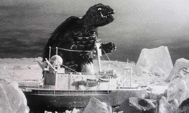 Gamera, rising from the Arctic